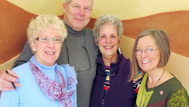 The Silver City Art Association has announced their 2016 Board of Directors. Shown left to right are Diane Kleiss, Secretary; Chris Saxman, Co-Chair; Ann Alexander, Treasurer; and Rebecca Martin, Co-Chair. The Silver City Art Association is composed of local galleries, studios and individual artists, sponsoring the annual Red Dot Art Weekends, the annual Red Dot Art Guide and other art-related events.