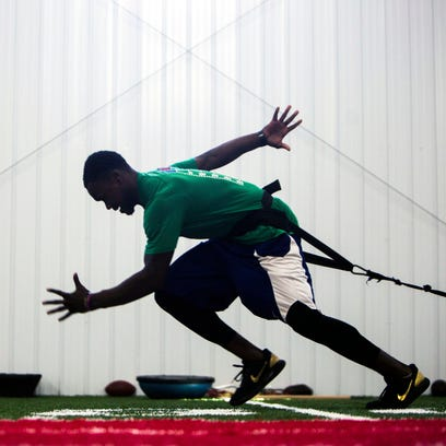 Clemson's Jadar Johnson training for NFL Scouting Combine