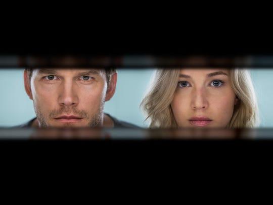 Chris Pratt and Jennifer Lawrence play interstellar