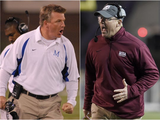 McCallie coach Ralph Potter (left) and MBA coach Marty