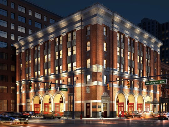 The Detroit Foundation Hotel used to be a five-story fire station in Detroit, Michigan.