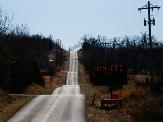 A 2017 photo of Highway JJ, several miles west of Morrisville, Missouri. Paillet lived along the road during the 1980s.