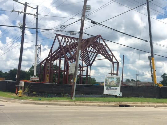 Construction of St. Pius X Catholic Church continues.