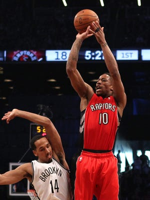 DeMar DeRozan scored a game-high 24 points for the Raptors.
