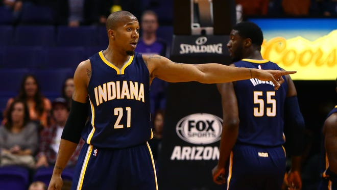 David West and Roy Hibbert started together for the first time this season in Tuesday's loss to Phoenix.