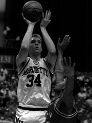 Center Jim McIlvaine holds the all-time record for blocked shots at Marquette. McIlvaine is now the team's radio analyst.