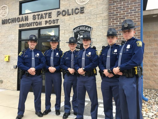 Six new troopers join Michigan State Police Brighton post