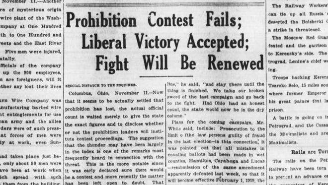 One hundred years ago, the ballot issues were prohibition and women's suffrage. Both failed.