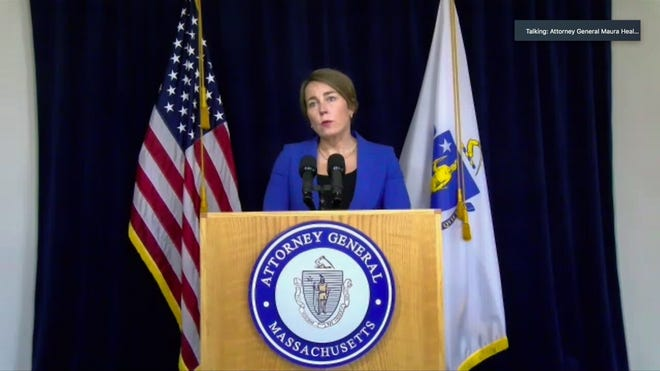 Attorney General Maura Healey announced criminal charges Friday against two top leaders at Holyoke Soldiers' Home.