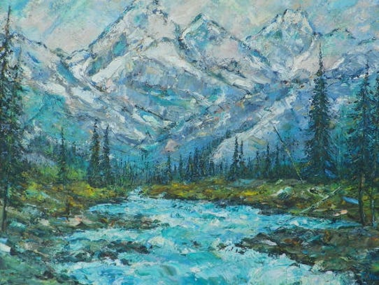 """""""Caribou Range"""" was inspired by views near a former"""