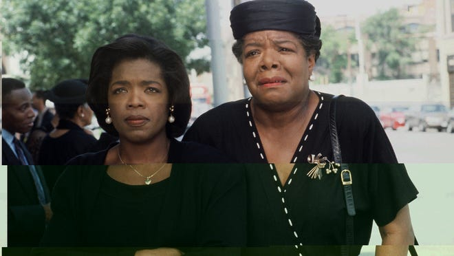 """ABC 34(11/9/93)--THERE ARE NO CHILDREN HERE-- Oprah Winfrey is a mother raising her family in the hazardous world of a Chicago housing project and Maya Anjelou (right) is her mother, a precious representative of a generation that is not about to give upto fear and doubt, in THERE ARE NO CHILDREN HERE, a powerful new drama based on Alex Kotlowitz' non-fiction bestseller, airing as an """"ABC Theater"""" presentation on SUNDAY, NOV. 28 (9-11 pm, ET) on the ABC Television Network."""