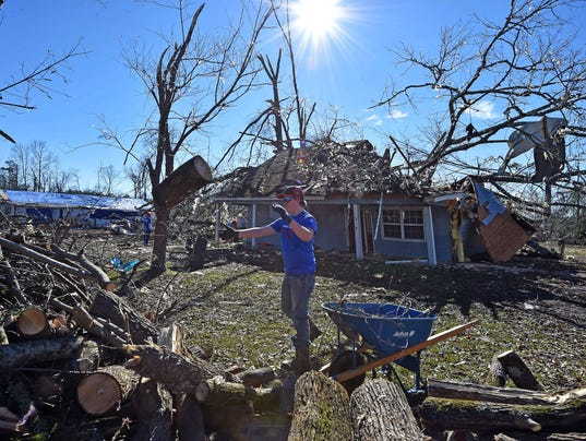 TCL Hattiesburg Area Tornado Storm Damage and Recovery Tuesday