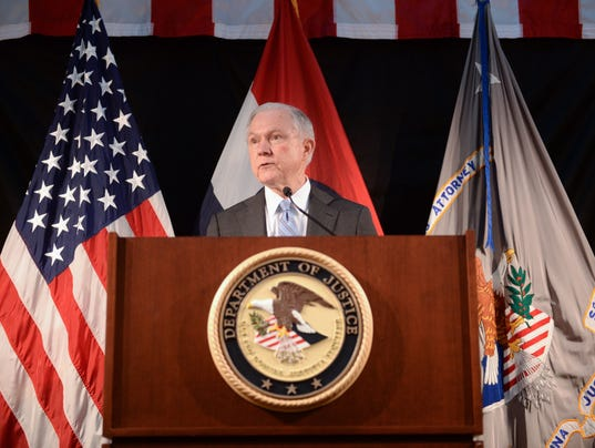 Jeff Sessions Addresses Law Enforcement In St. Louis About Combatting Crime