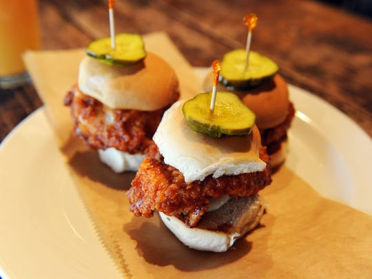 Chicken sliders at Burntwood Tavern, now open at Mercato in North Naples.