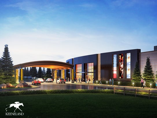 An initial rendering of the proposed horse racing venue