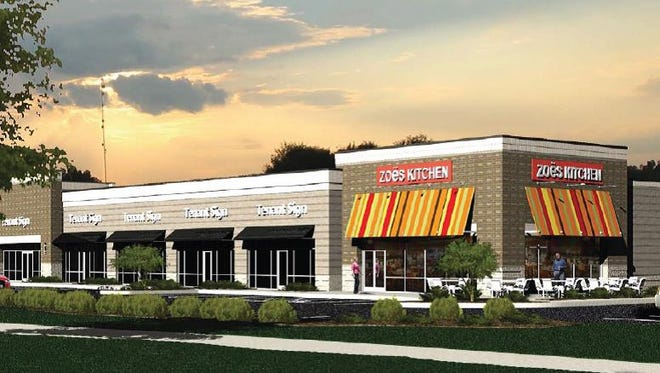 Zoe's Kitchen, a Mediterranean-inspired restaurant, will open Feb. 23, 2017, at 2222 Medical Center Parkway in Murfreesboro