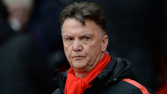 Manchester United's manager Louis van Gaal arrives for a match against Tottenham Hotspur at Old Trafford.