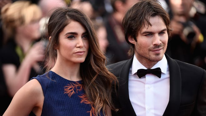 """Nikki Reed and Ian Somerhalder attends the Premiere of """"Youth"""" during the 68th annual Cannes Film Festival on May 20, 2015 in Cannes, France."""