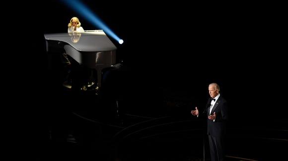 Vice President Joe Biden introduces Lady Gaga's performance