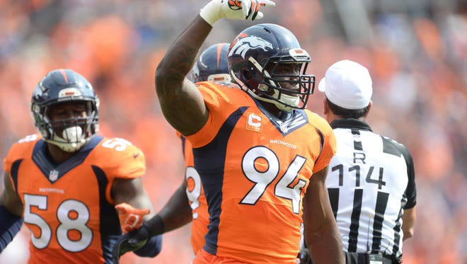 Denver Broncos linebacker DeMarcus Ware will be playing in his 13th season.