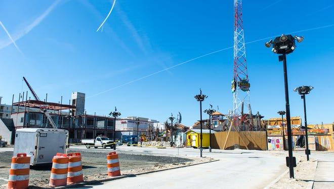 Seacrets Bar & Grille undergoes construction in Ocean City on Thursday, March 17.