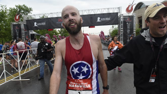 Scott Wietecha won the marathon, his fourth in a row, Saturday at Nissan Stadium.