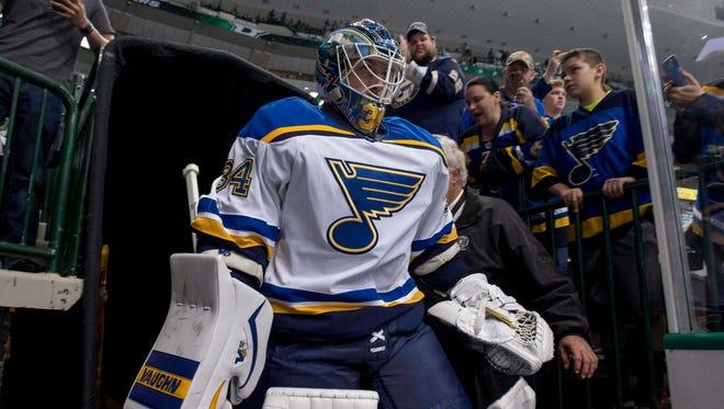 St. Louis Blues goalie Jake Allen.