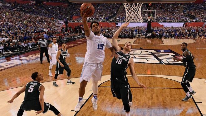 Michigan State and Duke last met in the 2015 national semifinals. The Blue Devils prevailed, 81-61.