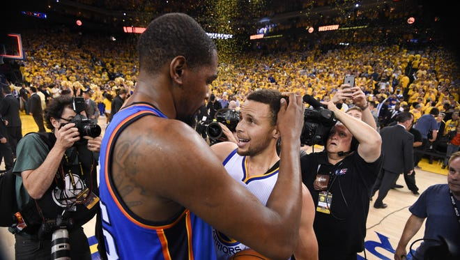 Kevin Durant is joining forces with Steph Curry on the Golden State Warriors.