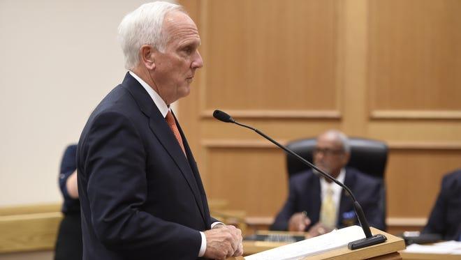 Attorney General Herbert Slattery speaks on Wednesday, July 13, 2016 in Nashville.