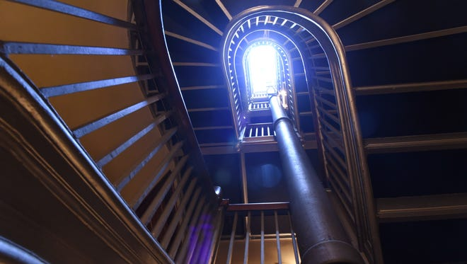 A view looking up in the servant's staircase at the Vanderbilt Mansion National Historic site in Hyde Park.