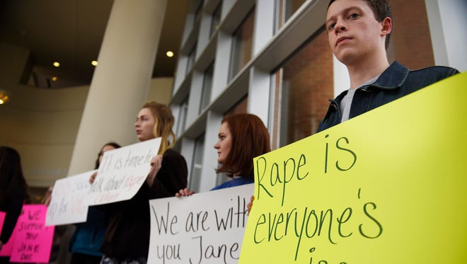 University of Tennessee, Knoxville students protest on Feb. 25, 2016.