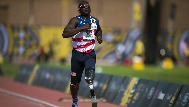 """William B. Reynolds III competes at the 2017 Invictus Games. He will talk about Unifying Leadership in Adverse Times"""" at Ithaca College on Monday."""