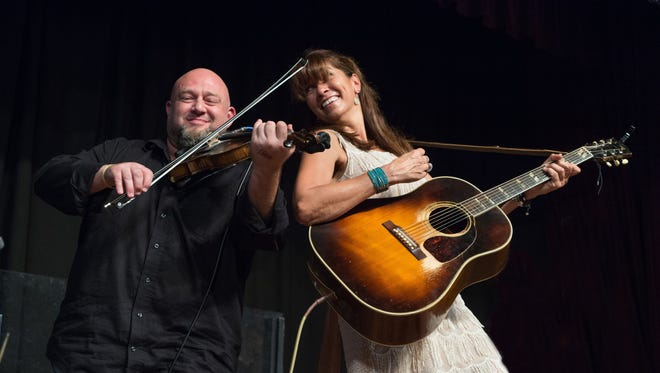 Beau Thomas, left, and Yvette Landry are among the musicians performing on the closing night of the Cinema on the Bayou film festival.