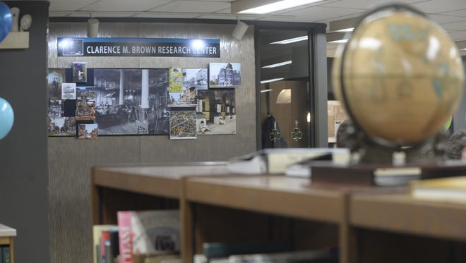 The Clarence M. Brown Research Center occupies part of the lower level of Morrisson-Reeves Library.