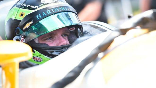 Conor Daly piloted the No. 88 car for Harding Racing at a test at Mid-Ohio.