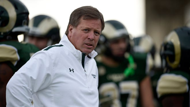Colorado State Rams head coach Jim McElwain before the start of a game.