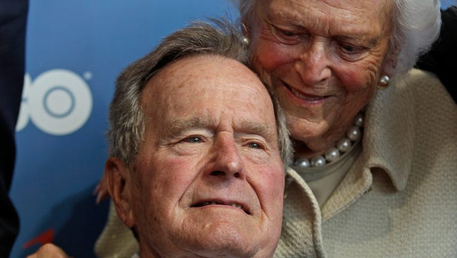 George and Barbara Bush are celebrating their 70th wedding anniversary today.