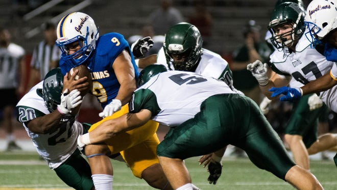 San Diego ex Luis Lopez rushed for 92 yards and two TDs, including the game-clinching score, Saturday night against Eastern New Mexico.