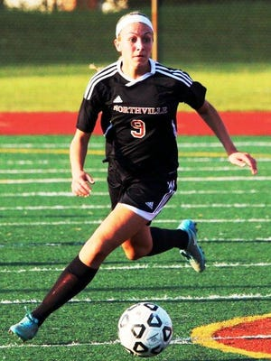 Northville sophomore Sydney Schembri had the game-winning goal in the second overtime to beat Brighton, 1-0, in the district final.