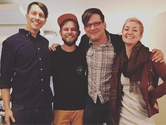 Kate Skales (far right) and her band