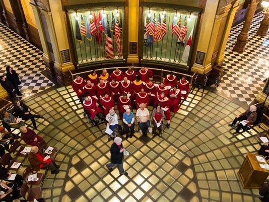 Therapy Choirs of Michigan at the State Capitol