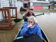 As the Ohio River recedes, more rain is coming as region faces 'tremendous cleanup'