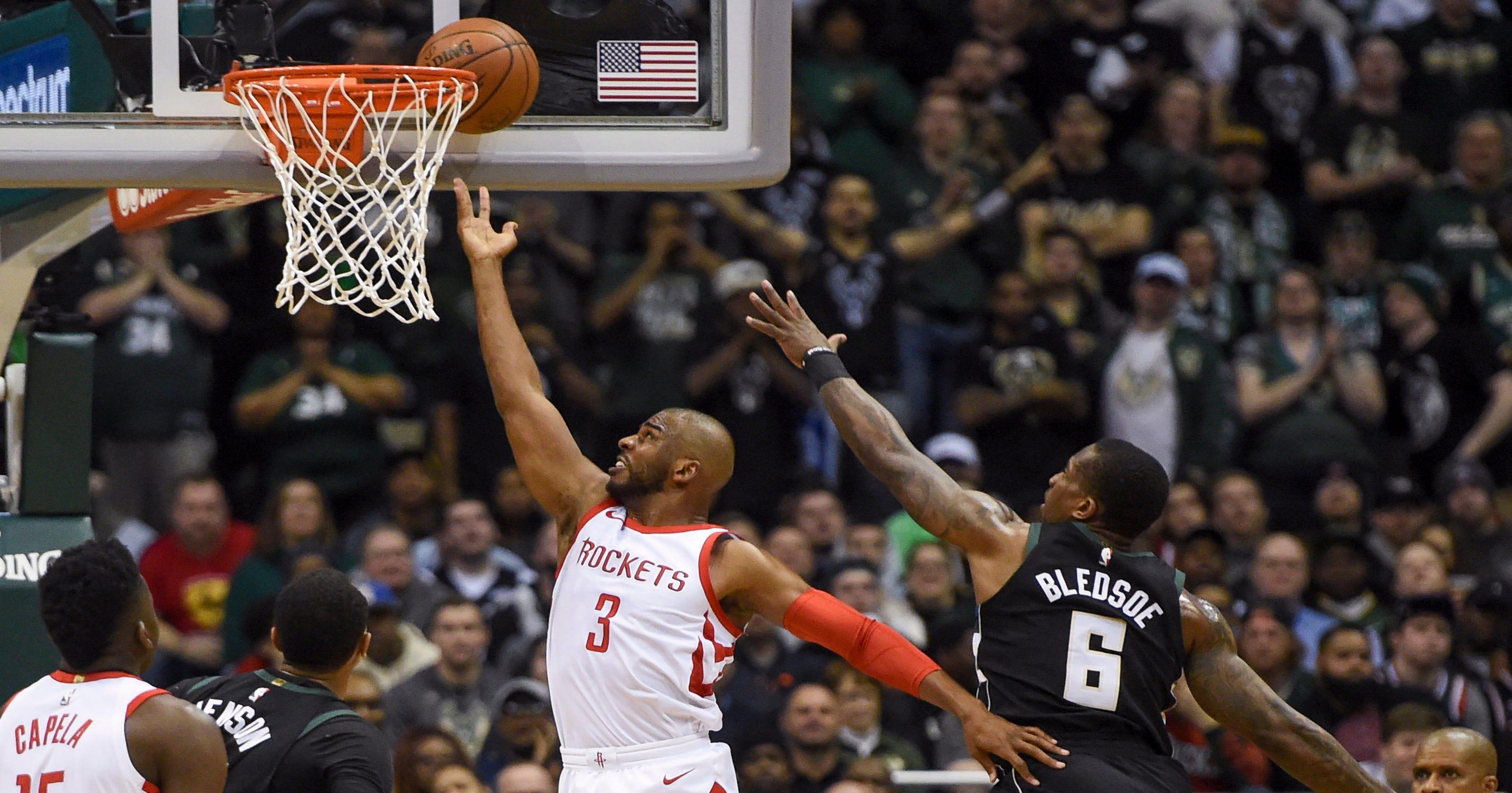 bbd2bcd0d26a Rockets beat Bucks to run winning streak to 17