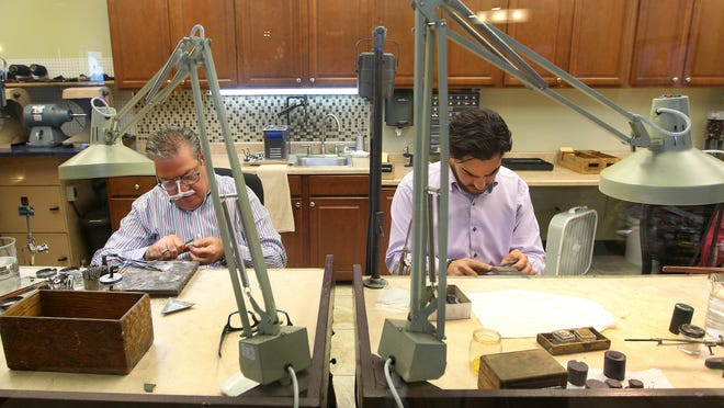 Vic, left, and John Bannayan  of Burke & Bannayan Jewelers in Greece, make high quality custom jewelry for a variety of clients.