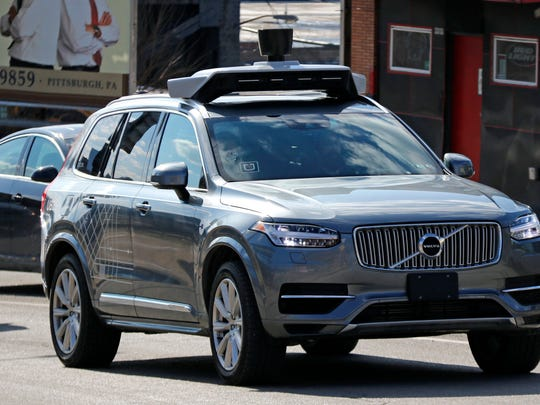 A self-driving Uber vehicle