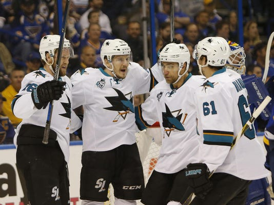 Game 2: San Jose at St. Louis