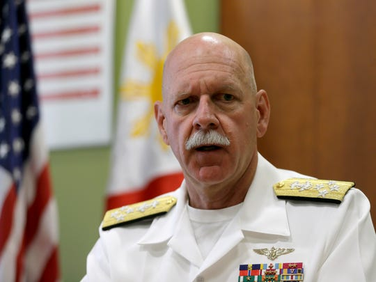 U.S. Pacific Fleet Commander Adm. Scott Swift talks