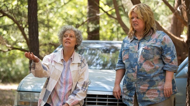 'Tammy,' with Susan Sarandon, left, and Melissa McCarthy, didn't catch fire.
