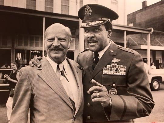 "Gen. Daniel ""Chappie"" James Jr. poses with then U.S."